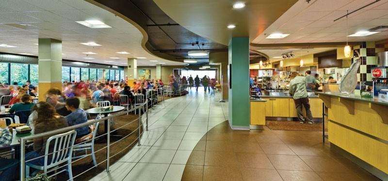 Dining hall on campus