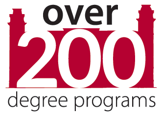 graphic stating the University of Arkansas has over 200 degree programs.